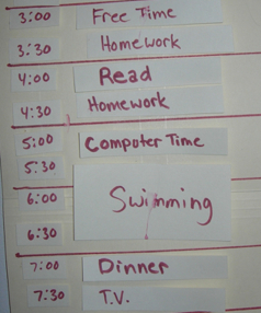 Help kids organize their own schedules