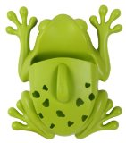 Frog Pod scoops up and stores tub toys