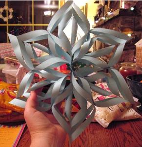 3-D snowflake templates
