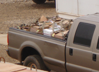 Pickup truck in Iraq