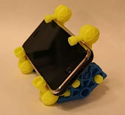 Build an iPhone stand out of K'nex