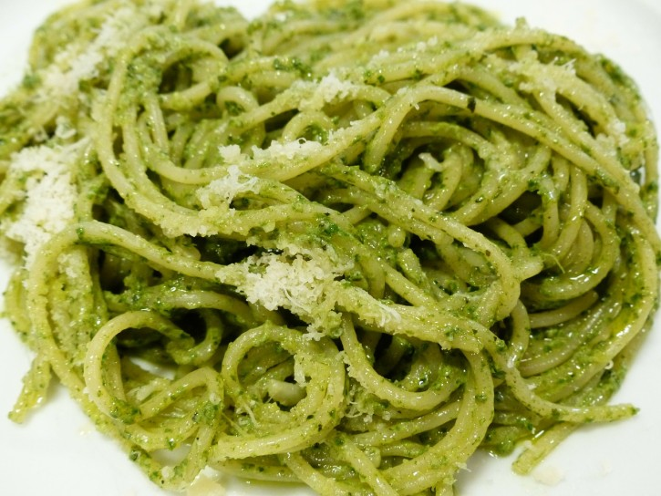 Pasta with Pesto and Parmesan