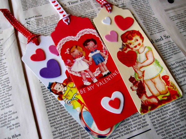 Valentine bookmarks at Sturdy for Common Things