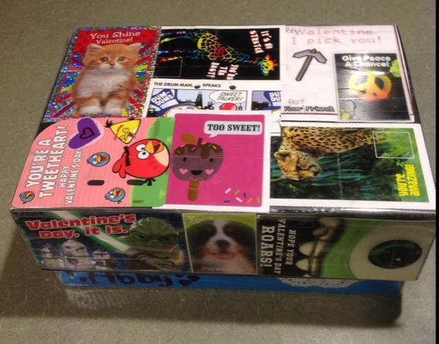 Valentine collection box. Photo credit: Laurie Goldman Lewis