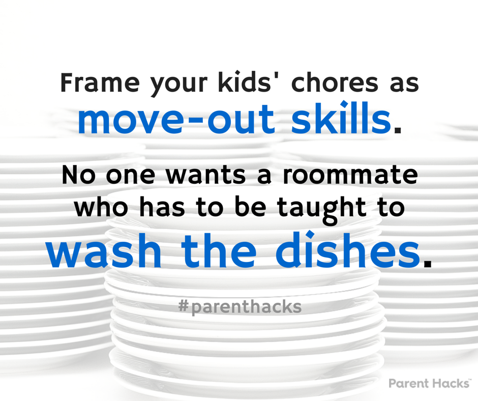 Chores = move-out skills #parenthacks #kids #parenting #chores