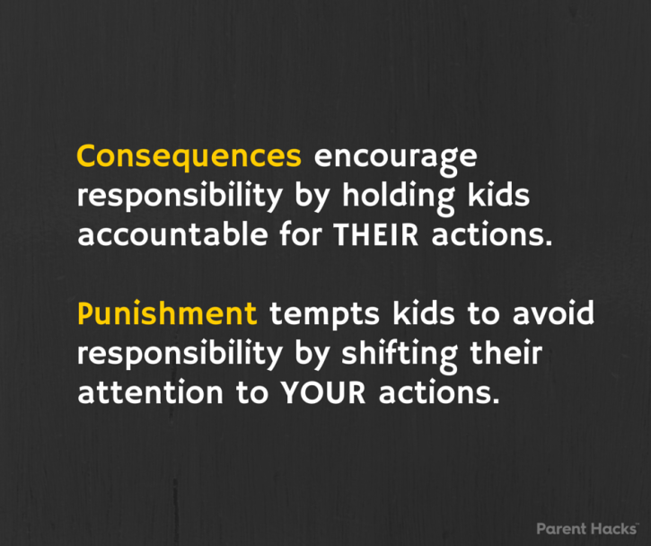 Consequences vs. punishment #parenthacks #kids #parenting
