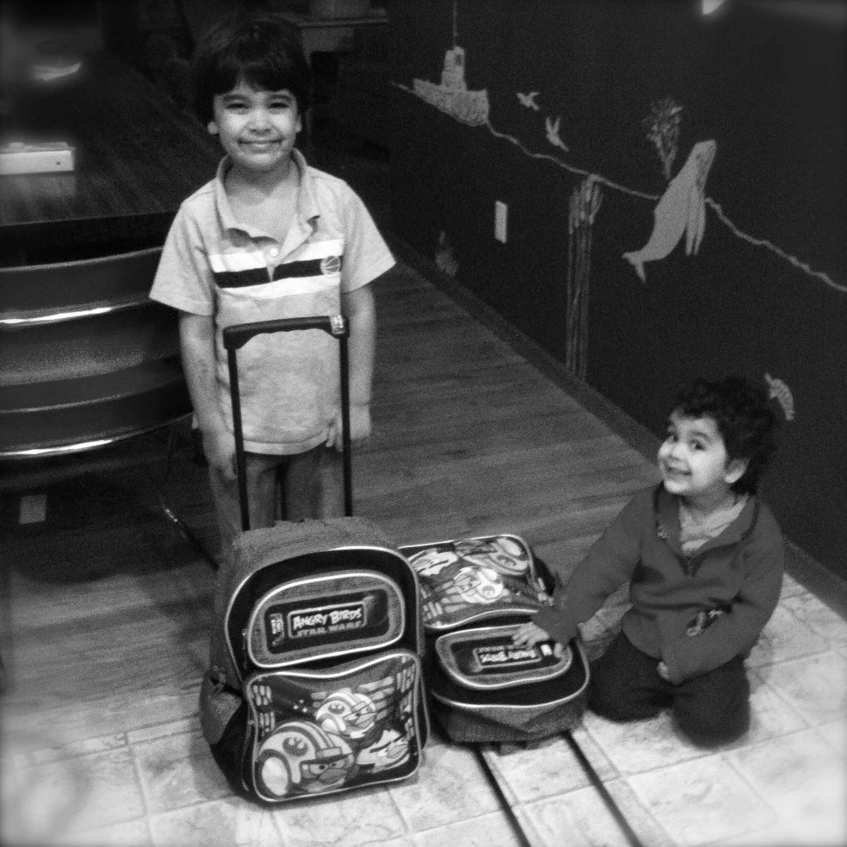 Air travel with kids: rolling backpacks