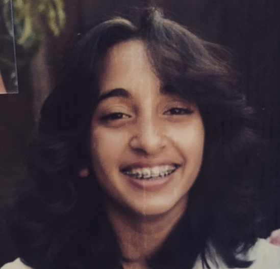 Asha in braces