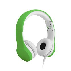 LilGadgets Connect+ Volume Limited Wired Headphones for Children (Green)