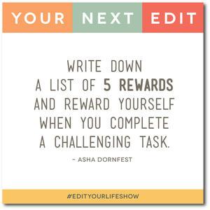 ode 1:  Conquering Procrastination. Your Next Edit (Asha Dornfest) #EditYourLifeShow