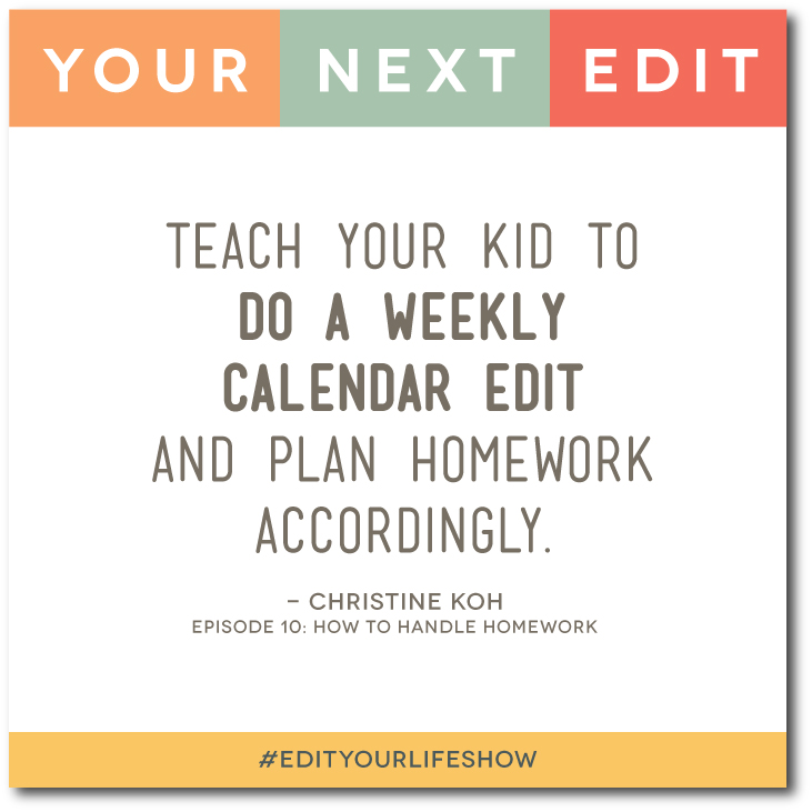 How to Handle Homework: Your next Edit (Christine) #EditYourLifeShow