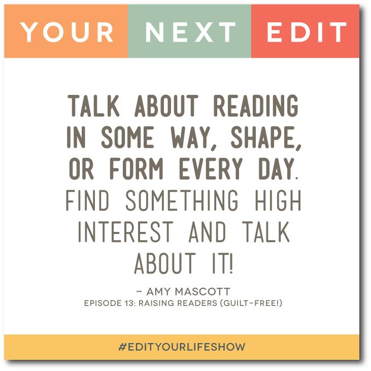 Episode 13: Your Next Edit (Amy Mascott) #EditYourLifeShow