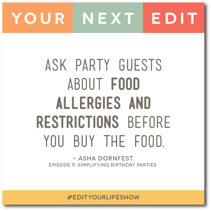 Simplifying Birthday Parties: Your Next Edit (Asha) #EditYourLifeShow