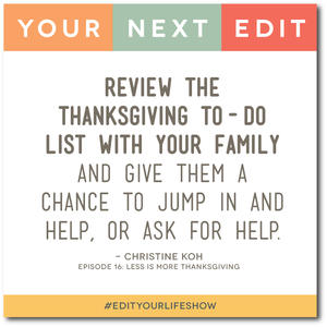 Ep. 16: Your Next Edit (Christine) #edityourlifeshow