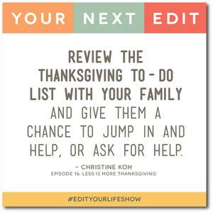Ep. 16: Your Next Edit (Christine) #edityourlifeshow
