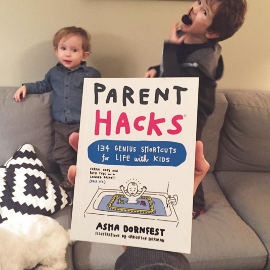 Parent Hacks cover. Photo credit: Craighton Berman