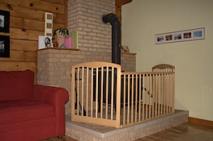 Turn an old crib into a baby gate and a garden trellis
