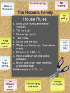 In the Parent Toolbox: House rules fridge sign