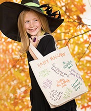 Halloween craft: Turn a canvas tote into reusable trick or treat bag