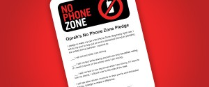 Oprah's push to end distracted driving: No Phone Zone