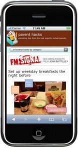 Parent Hacks admin: PH goes mobile