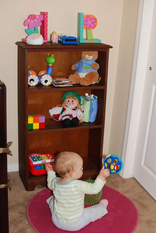 Bookshelf as toy display
