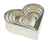 Amazon: Heart-shaped cookie cutters