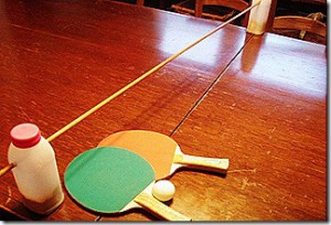 DIY dining room table tennis