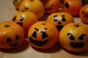 No-carve, no-pumpkin mini Jack O'lanterns