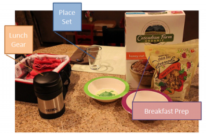 Set up weekday breakfasts the night before