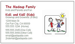 Free(ish) family business cards simplify playdates and more