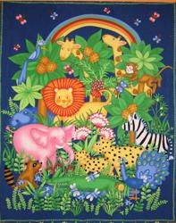Fabric panel art