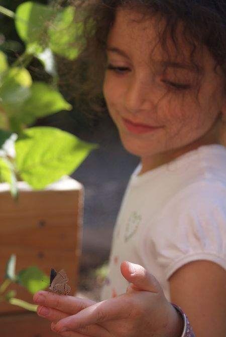 My daughter, the garden fairy