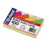 "Amazon: Assorted ""Glow"" Colored Index Cards"