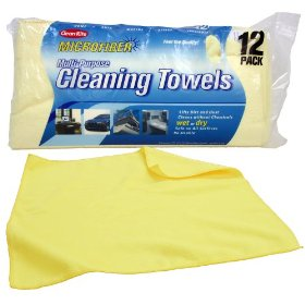 Automotive microfiber cleaning towels as cheap spitup rags