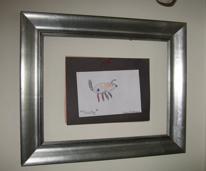 Glassless frame for kid art