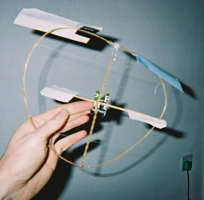 Rubber band helicopter