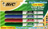 Amazon: BIC Great Erase Low Odor Dry Erase Markers, Fine Point, Assorted, 4 Dry Erase Markers