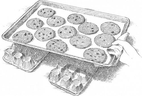 Egg cartons as cooling rack
