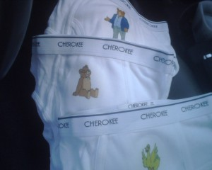 Potty training inspiration: make custom underwear decals!