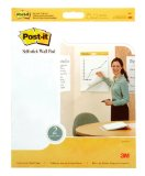 Amazon: Post-it® Easel Pad, Self-Stick, Wall Mount, 20 Inches x 23 Inches, White, 20 Sheets per Pad, Two per Pack