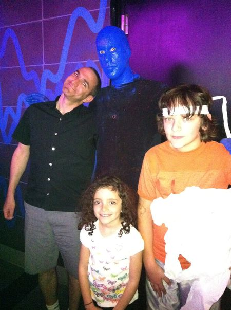 My family and a Blue Man