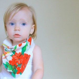 Bandana as toddler fashion-accessory-slash-snot-neckerchief