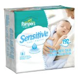 Amazon: Pampers Sensitive 3X Wipes 192 Count (Pack of 4)