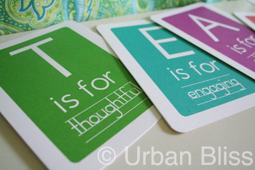 teacher appreciation week flash cards free printable