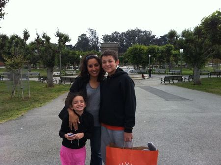 Me and my kids in Golden Gate Park, San Francisco, CA