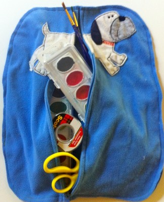 Tinker Lab: Upcycled On-The-Go Art Bag
