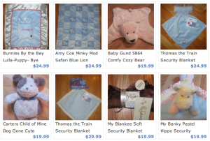 Lost blankie, teddy bear, or other special lovey? This shop specializes in replacements.