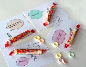 "Printable Valentine cards for ""smarties"""