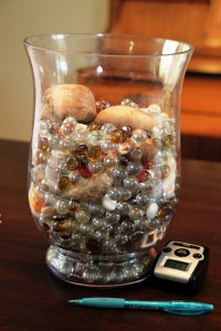 """Upgrade"" your marble jar with rocks"